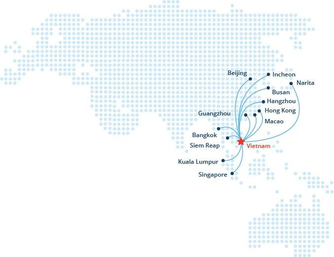 Mạng đường bay quốc tế sân bay Đà Nẵng