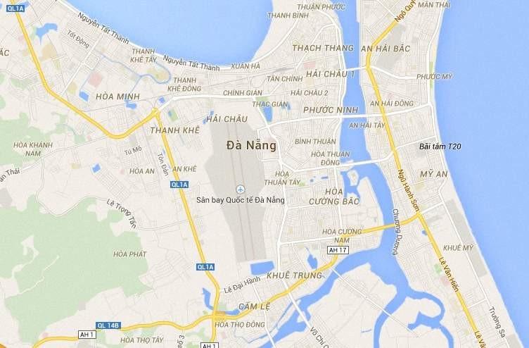 Bản đồ Sân bay quoc te Đà Nẵng