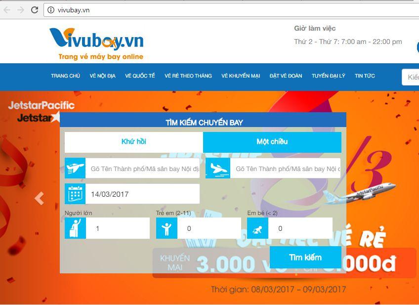 Hướng dẫn đặt vé quốc tế trên vivubay