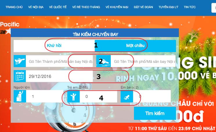 Hướng dẫn đặt vé nội địa trên Vivubay
