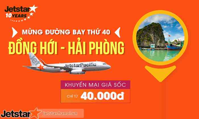 Vé máy bay Đồng Hới, Quảng Bình đi Hải Phòng
